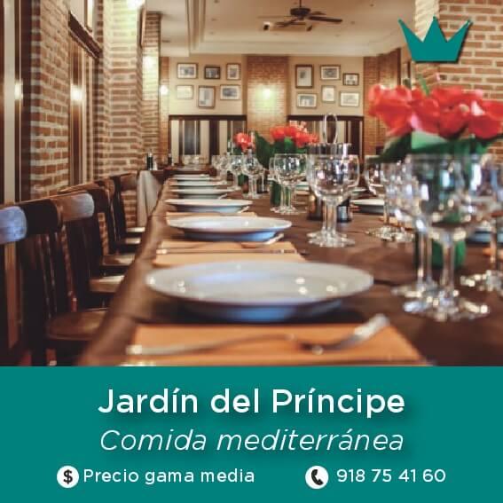 restaurante Jardín del Príncipe aranjuez