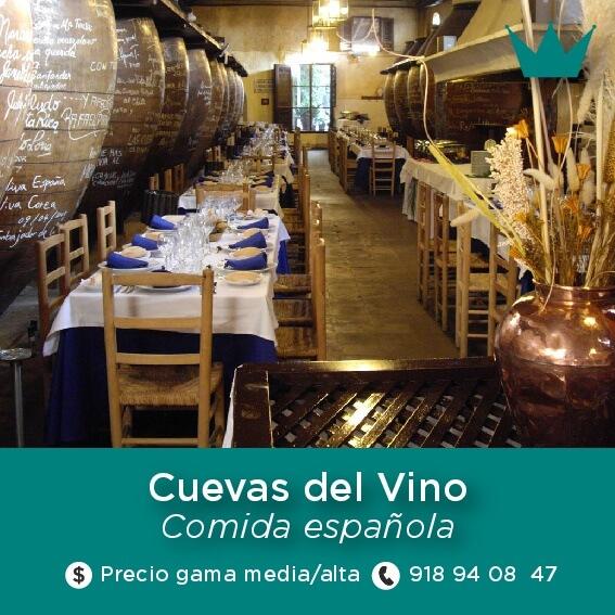 restaurante cuevas del vino chinchon