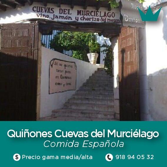 restaurantes quiñones cuevas murcielago chinchon