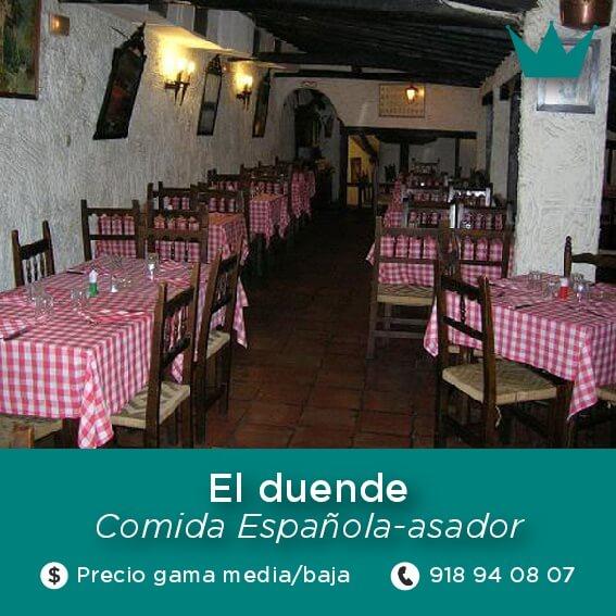 duende restaurante chinchon